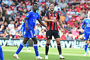 Leicester City Midfielder, Wilfred Ndidi (25) and AFC Bournemouth Midfielder, Dan Gosling (4) during the Premier League match between Bournemouth and Leicester City at the Vitality Stadium, Bournemouth, England on 15 September 2018.