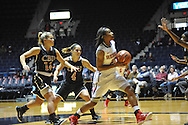 "Ole Miss' Shandricka Sessom (23) vs. Christian Brothers in an exhibition basketball game at the C.M. ""Tad"" Smith Coliseum in Oxford, Miss. on Friday, November 7, 2014. (AP Photo/Oxford Eagle, Bruce Newman)"