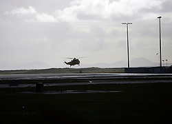 UNITED KINGDOM WALES ANGLESEY 18NOV10 - RAF Sea King Search and Rescue helicopter approaches for landing in Anglesey, north Wales where Prince William serves as an RAF Search and Rescue helicopter pilot...jre/Photo by Jiri Rezac..© Jiri Rezac 2010