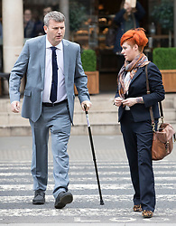 © Licensed to London News Pictures. 10/3/2017. London, UK. Food blogger JACK MONROA arrives at the High Court with solicitor MARK LEWIS.  Jack Monroe is claiming libel damages after 'serious harm' was caused over tweets from the Daily Mail columnist Katie Hopkins. Photo credit: Peter Macdiarmid/LNP
