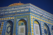 Dome of the Rock mosque ceramic tile designs, Islamic architecture, Old Jerusalem