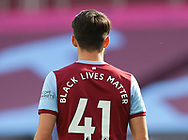 The Black Lives Matters slogan on the back of the shirt of Declan Rice of West Ham United during the Premier League match at the London Stadium, London. Picture date: 20th June 2020. Picture credit should read: David Klein/Sportimage