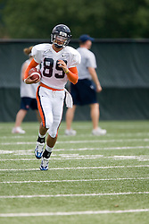 Virginia Cavaliers WR Chris Dalton (89)..The Virginia Cavaliers football team held their first open practice of the 2007 season on the practice fields next to the University of Virginia's McCue Center in Charlottesville, VA on August 10, 2007.