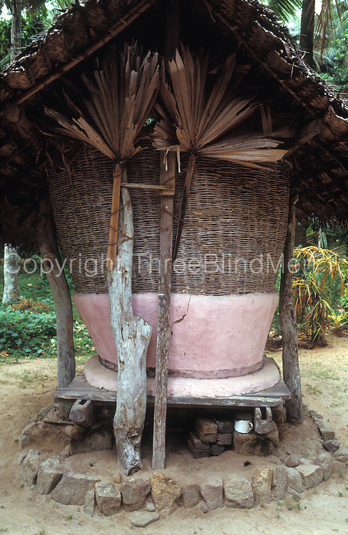 Sri Lanka.<br /> A traditional 'bissa' for storing harvested rice/paddy.