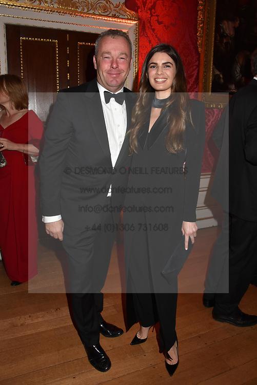 David Yarrow and Joanne Salley at the Tusk Ball at Kensington Palace, London, England. 09 May 2019.