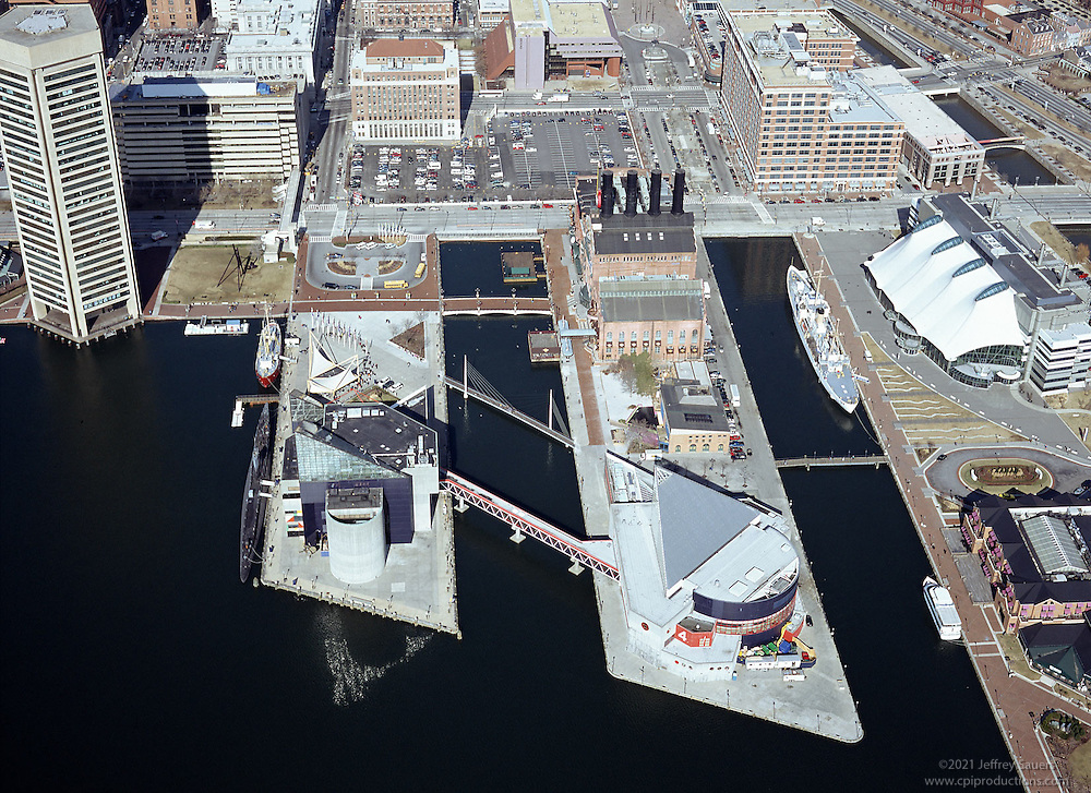Aerial Photography of the National Aquarium in Baltiimore