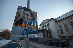 The half-Scottish Prime Minister David McAllister of Lower Saxony, invited The Scottish Sun's Graeme Donohoe to attend today's cabinet meeting. Pic of one of his election posters outside the Lower Saxony State Chancellery..©Michael Schofield.