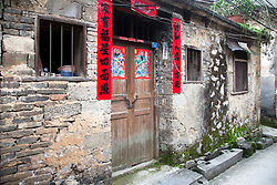 Exterior, Old Chinese Hutong House, Yangshuo, Southern China.