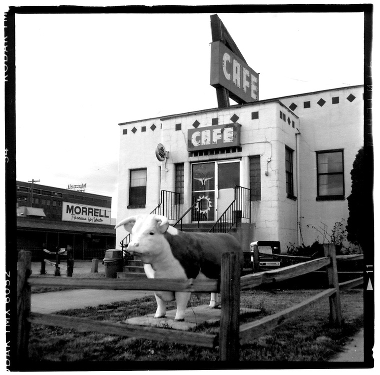 The Stockyards Cafe in Sioux Falls, S.D., on May 8, 1993, is well-known for their beef, and for their freshness. The restaurant is in the middle of Sioux Falls' stockyards. (Photo by Geoff Hansen)