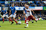 Nicky Law (7) of Bradford City prepares to shoot at goal which he misses during the EFL Sky Bet League 1 match between Portsmouth and Bradford City at Fratton Park, Portsmouth, England on 28 October 2017. Photo by Graham Hunt.