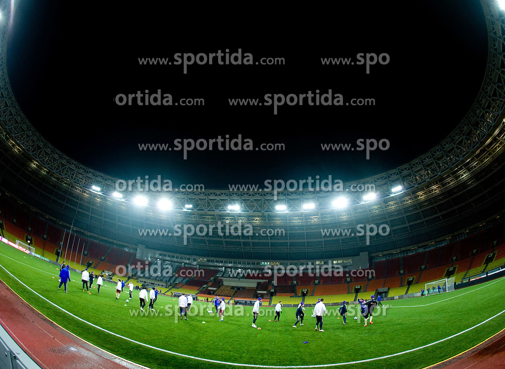 Practice of Russian team a day before FIFA World Cup 2010 Qualifying match between Russia and Slovenia, on November 13, 2009, in Stadium Luzhniki, Moscow, Russia.  (Photo by Vid Ponikvar / Sportida)