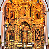 Golden Altar of San José Church in Casco Viejo, Panama City, Panama <br />