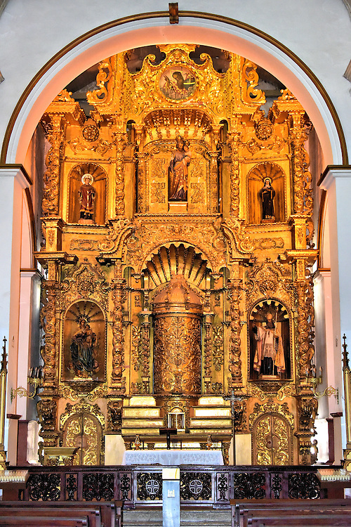 Golden Altar of San Jos&eacute; Church in Casco Viejo, Panama City, Panama <br />