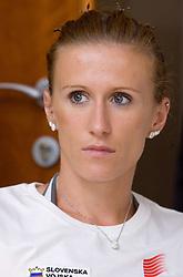 Sonja Roman at press conference of Slovenian National Team before Athletics World Championships in Berlin,  on August 10, 2009, in Ljubljana, Slovenia. (Photo by Vid Ponikvar / Sportida)