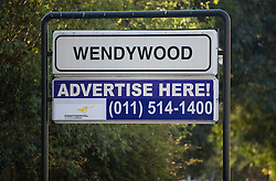 Wendywood sign in Sandton on June 9, 2010 in Johannesburg, South Africa.  (Photo by Vid Ponikvar / Sportida)