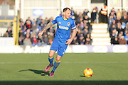 AFC Wimbledon defender & captain Barry Fuller (2) during the EFL Sky Bet League 1 match between AFC Wimbledon and Millwall at the Cherry Red Records Stadium, Kingston, England on 2 January 2017. Photo by Stuart Butcher.