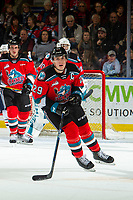 KELOWNA, BC - NOVEMBER 16: Nolan Foote #29 of the Kelowna Rockets skates against the Kamloops Blazers at Prospera Place on November 16, 2019 in Kelowna, Canada. Foote was chosen in the 2019 NHL entry draft by the Tampa Bay Lightning. (Photo by Marissa Baecker/Shoot the Breeze)