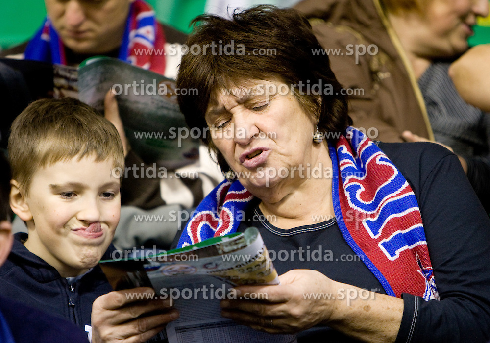 Mother of Matjaz Smodis at Euroleague basketball match between KK Union Olimpija, Ljubljana and CSKA Moscow, on January 7, 2010 in Arena Tivoli, Ljubljana, Slovenia. CSKA defeated Olimpija 80:77 after overtime. (Photo by Vid Ponikvar / Sportida)