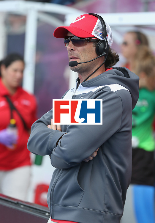 LONDON, ENGLAND - JUNE 19: USA coach Craig Parnham during the FIH Women's Hockey Champions Trophy match between USA and Argentina at Queen Elizabeth Olympic Park on June 19, 2016 in London, England.  (Photo by Alex Morton/Getty Images)