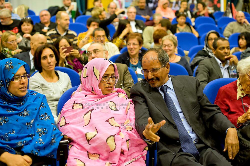 Roma 16 Novembre 2013<br />  Il  presidente della Repubblica araba Sahrawi Mohamed Abdelaziz, alla giornata conclusiva  del 38&deg; EUCOCO, conferenza Europea di Coordinamento dei Comitati di solidariet&agrave; con il popolo sahrawi,  alla  sede  della Regione Lazio  a Roma.<br /> Rome November 16, 2013<br />  The President of the Sahrawi Arab Republic Mohamed Abdelaziz, for the final day of the 38th EUCOCO, European Conference of Coordination Committees of solidarity with the Saharawi people, the headquarters  of   the Region of Lazio in Rome