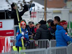 31.01.2014, Energie AG Skisprung Arena, Hinzenbach, AUT, FIS Ski Sprung, FIS Ski Jumping World Cup Ladies, Hinzenbach, Training im Bild #45 Daniela Iraschko-Stolz (AUT) // during FIS Ski Jumping World Cup Ladies at the Energie AG Skisprung Arena, Hinzenbach, Austria on 2014/01/31. EXPA Pictures © 2014, PhotoCredit: EXPA/ Reinhard Eisenbauer