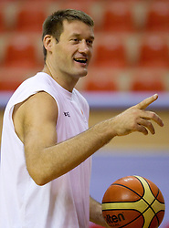 Goran Jagodnik of Slovenia during the Practice session of National team of Slovenia at 2010 FIBA World Championships on September 7, 2010 at Ahmet Comert Spor Salonu in Istanbul, Turkey. (Photo By Vid Ponikvar / Sportida.com)