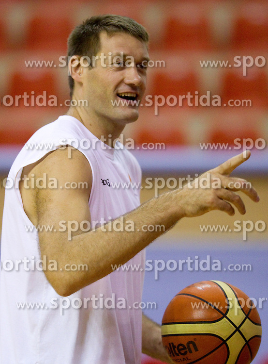 Goran Jagodnik of Slovenia during the Practice session of National team of Slovenia at 2010 FIBA World Championships on September 7, 2010 at Ahmet Comert Spor Salonu in Istanbul, Turkey. (Photo By Vid Ponikvar / Sportida.com)