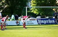 1. divisjon fotball herre Hønefoss vs Bryne 31. mai 2004 Hønefoss Idrettspark<br /> Knut Sirevåg Roger Eskeland og Jarle Mong alle fra Bryne etter 3-1 målet til Hønefoss<br /> Fotograf Kurt Pedersen Digitalsport