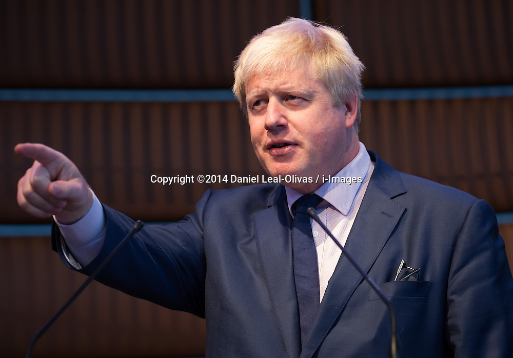 Image ©Licensed to i-Images Picture Agency. 09/07/2014. London, United Kingdom. Mayor launches London Curriculum with University style quiz. Boris Johnson addresses schoolchildren, parents and teachers in London Curriculum with University Challenge style quiz for capital's schoolchildren. Youngsters attend in the Museum of London to be quizzed about their knowledge of the capital. Museum of London. Picture by Daniel Leal-Olivas / i-Images