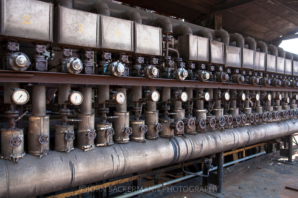 DEU, Germany, Ruhr area, Hattingen, Westphalian Industry Museum Henrichs smeltery, detail of blast furnace 3.<br /> <br /> DEU, Deutschland, Ruhrgebiet, Hattingen, Westfaelisches Industriemuseum Henrichshuette, Detail des Hochofens 3.