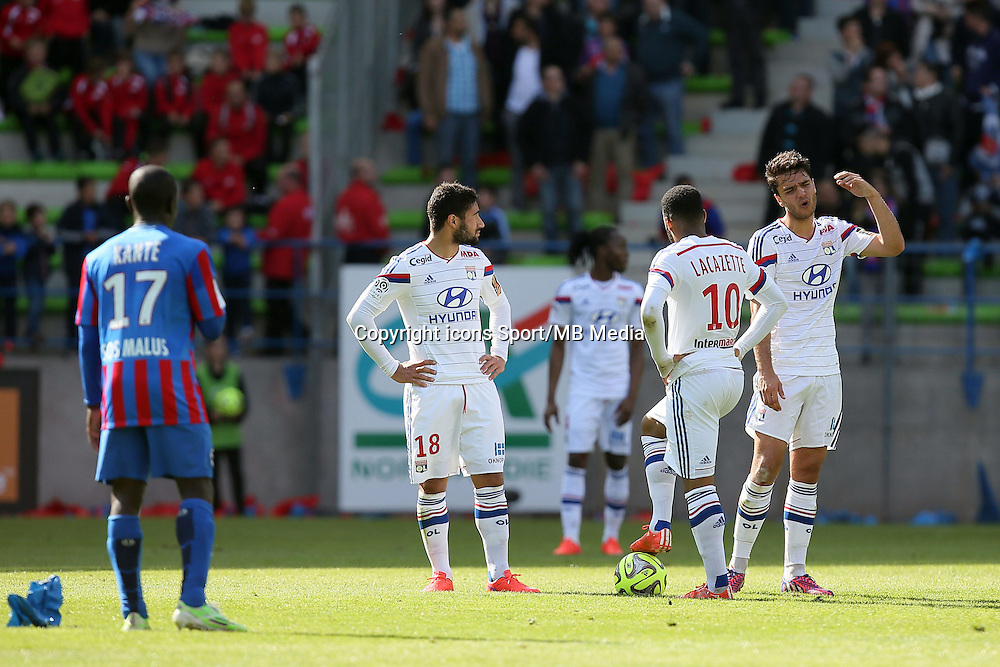 Nabil FEKIR / Alexandre LACAZETTE / Clement GRENIER - 09.05.2015 -  Caen / Lyon  - 36eme journee de Ligue 1<br /> Photo : Vincent Michel / Icon Sport