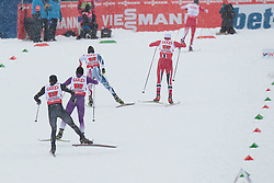 24.02.2013, Langlaufstadion, Lago di Tesero, ITA, FIS Weltmeisterschaften Ski Nordisch, Nordische Kombination, Langlauf Team, im Bild the group going to change with France, Austria, Norway, Japan and Usa during the Mens Nordic Combined Team Race of the FIS Nordic Ski World Championships 2013 at the Cross Country Stadium, Lago di Tesero, Italy on 2013/02/24. EXPA Pictures ©  2013, PhotoCredit: EXPA/ Federico Modica