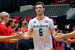 13-09-2019 NED: EC Volleyball 2019 Netherlands - Montenegro, Rotterdam<br /> First round group D Netherlands win 3-0 / Just Dronkers #6 of Netherlands