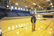 Oxford athletic director Johnny Hill at the new gym at Oxford High School, in Oxford, Miss. on Thursday, March 27, 2014.