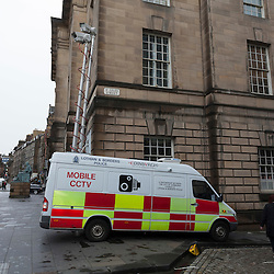 Police Mobile CCTV Vehicle, Edinburgh, Scotland, United Kingdom, Europe