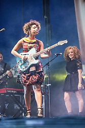 "Lianne La Havas plays the Goldenvoice Arena. Sunday, Rockness 2013, the annual music festival which took place in Scotland at Clune Farm, Dores, on the banks of Loch Ness, near Inverness in the Scottish Highlands. The festival is known as ""the most beautiful festival in the world""."