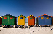 Colorful beach houses on the sand at Muizenburg, South Africa, near Cape Town. http://www.gettyimages.com/detail/photo/beach-houses-muizenburg-cape-town-south-africa-royalty-free-image/89053451