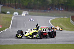 April 23, 2018 - Birmingham, Alabama, United States of America - SEBASTIEN BOURDAIS (18) of France battles for position through the turns during the Honda Grand Prix of Alabama at Barber Motorsports Park in Birmingham, Alabama. (Credit Image: © Justin R. Noe Asp Inc/ASP via ZUMA Wire)