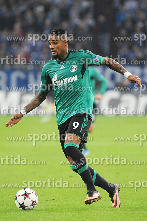 18.09.2013, Veltins Arena, Gelsenkirchen, GER, UEFA Champions League, Schalke 04 vs Steaua Bukarest, Gruppe E, im Bild Kevin Prince Boateng ( Schalke 04/ Freisteller ) //  during UEFA Champions League group E match between Schalke 04 vs Steaua Bukarest at the Veltlins Arena, Gelsenkirchen, Germany on 2013/09/18. EXPA Pictures &copy; 2013, PhotoCredit: EXPA/ Eibner/ Thomas Thienel<br /> <br /> ***** ATTENTION - OUT OF GER *****