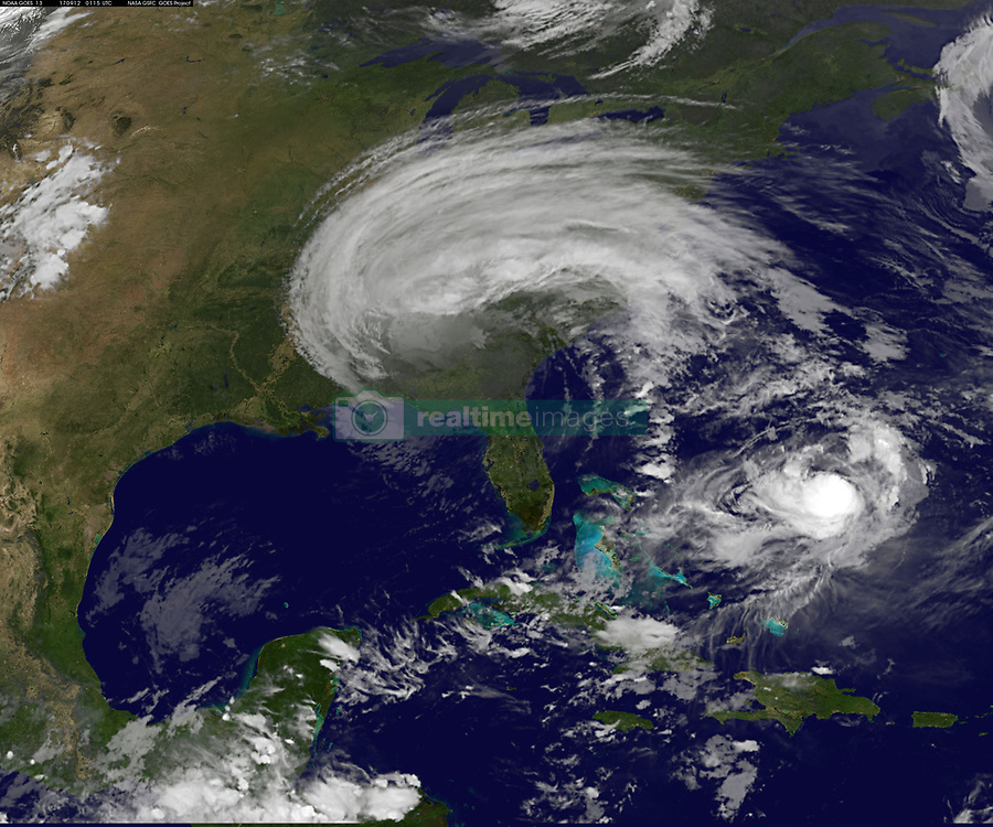 September 11, 2017 - Gulf Of Mexico, United States - Tropical Storm Irma as it makes way over Georgia and into Tennessee after sweeping up the state of Florida as Category 4 Hurricane Irma as shown by the GOES-16 satellite September 11, 2017. (Credit Image: © Noaa/Planet Pix via ZUMA Wire)