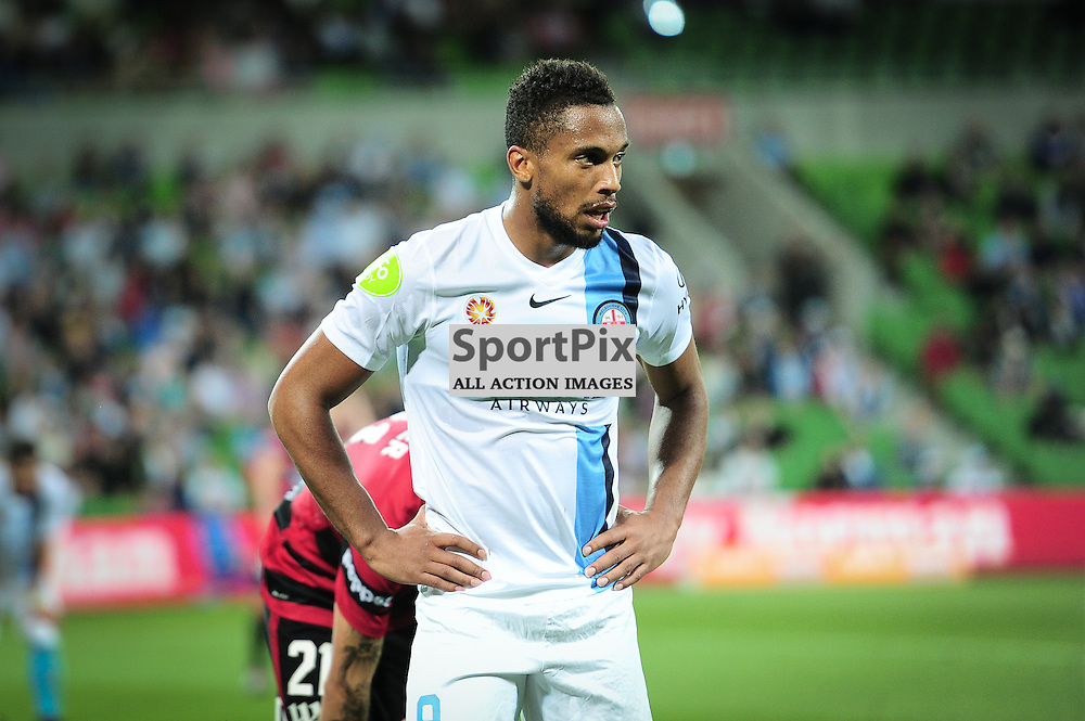 Harry Novillo of Melbourne City - Hyundai A-League, January 9th 2016, RD14 match between Melbourne City FC v Western Sydney Wanderers FC at Aami Park in a 3:2 win to City. Melbourne, Australia. © Mark Avellino | SportPix.org.uk