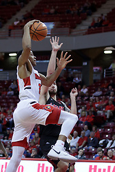 05 November 2017:  William Tinsley up for the dunk during a Lewis College Flyers and Illinois State Redbirds in Redbird Arena, Normal IL