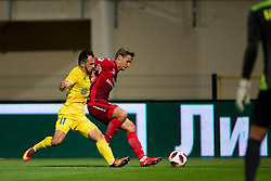 Tonci Mujan of NK Domzale during 2nd Leg football match between NK Domzale and FC Ufa in 2nd Qualifying Round of UEFA Europa League 2018/19, on August 2, 2018 in Sports Park Domzale, Domzale, Slovenia. Photo by Urban Urbanc / Sportida