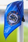 A general view of the corner flag inside Stamford Bridge Stadium during the Premier League match between Chelsea and West Ham United at Stamford Bridge, London, England on 8 April 2019.