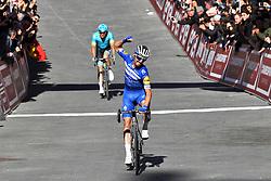 March 9, 2019 - Siena, Italia - Foto Gian Mattia D'Alberto / LaPresse.09-03-2019 Siena.Sportciclismo.Gara ciclistica Strade Bianche 2019 .nella foto: Jakob Fuglsang (Dan, Astana), il vincitore Julian ALAPHLIPPPE (Fra, Deceuninck-QuickStep)..Photo Gian Mattia D'Alberto  / LaPresse.2019-03-09 SienaSportCycling.Strade Bianche 2019 .in the photo: Jakob Fuglsang (Dan, Astana) the winner Julian ALAPHLIPPPE  (Credit Image: © Gian Mattia D'Alberto/Lapresse via ZUMA Press)