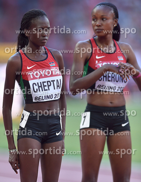 27-08-2015 CHN: IAAF World Championships Athletics day 6, Beijing<br /> Mercy Cherono and Irene Chepet Cheptai at start of 5000 m