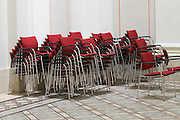 Universities in Vienna, Austria..Universität Wien..Chairs for festivities.