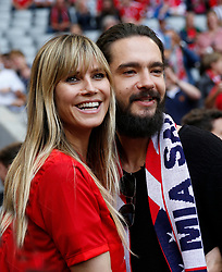 18.05.2019, Allianz Arena, Muenchen, GER, 1. FBL, FC Bayern Muenchen vs Eintracht Frankfurt, 34. Runde, im Bild Heidi Klum und Tom Kaulitz // during the German Bundesliga 34th round match between FC Bayern Muenchen and Eintracht Frankfurt at the Allianz Arena in Munich, Germany on 2019/05/18. EXPA Pictures © 2019, PhotoCredit: EXPA/ SM<br /> <br /> *****ATTENTION - OUT of GER*****