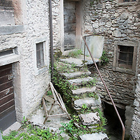 LONGARONE, ITALY - SEPTEMBER 28:  one of the many abandoned houses in the village of Casso is seen on September 28, 2013 in Longarone, Italy. The Vajont Dam tragedy happened on the night of the October 9, 1963, when a landslide broke away from Monte Toc and fell into the Vajont River, causing a wave that struck the neighboring towns and killing more than 2000 people.  (Photo by Marco Secchi/Getty Images)