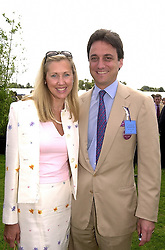 Model KATRINA SKEPPER and her husband COUNT ALLESANDRO GUERRINI-MARALDI, at a polo match in Berkshire on 30th July 2000.OGN 173